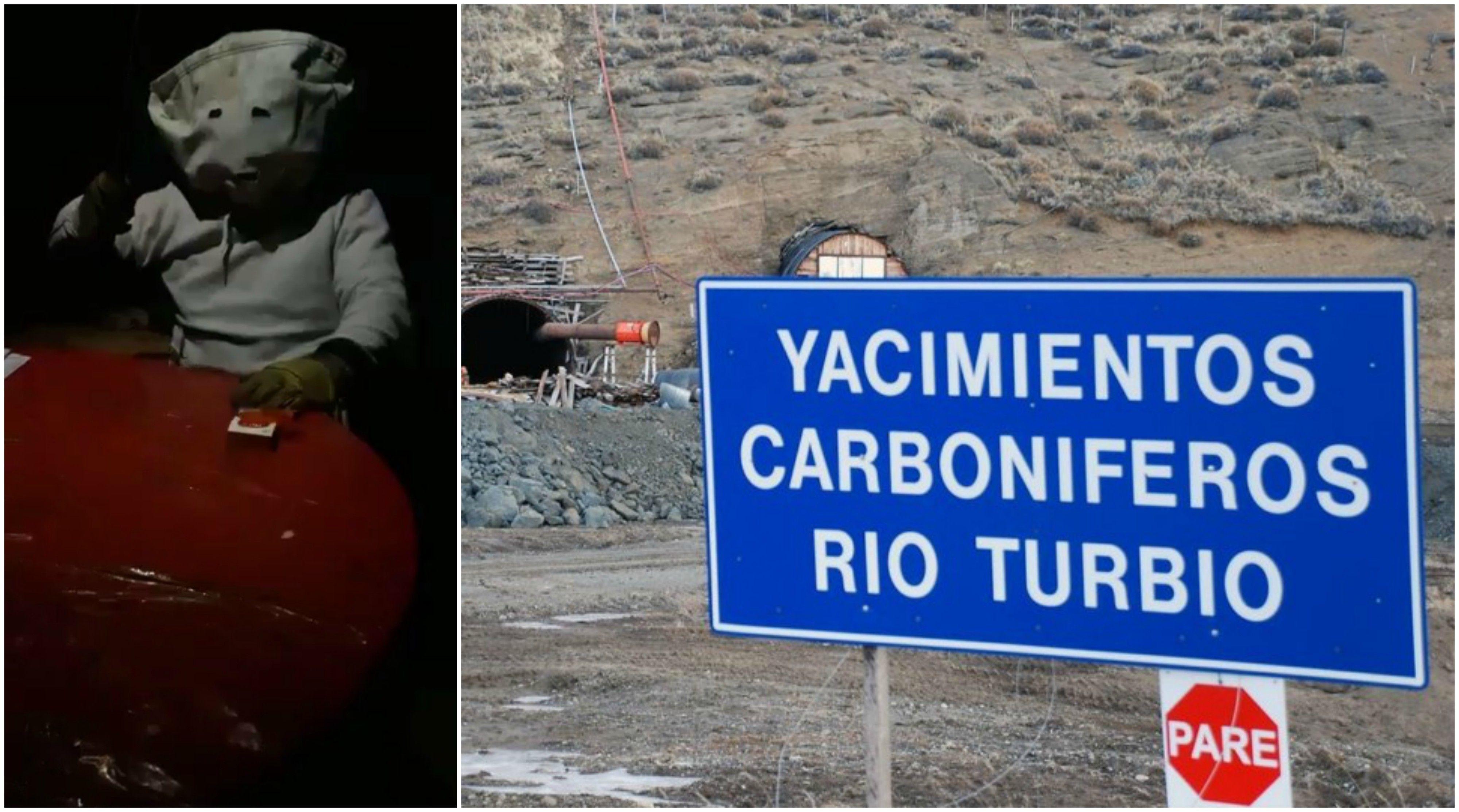 Encapuchados tomaron la mina de Río Turbio y publicaron un video