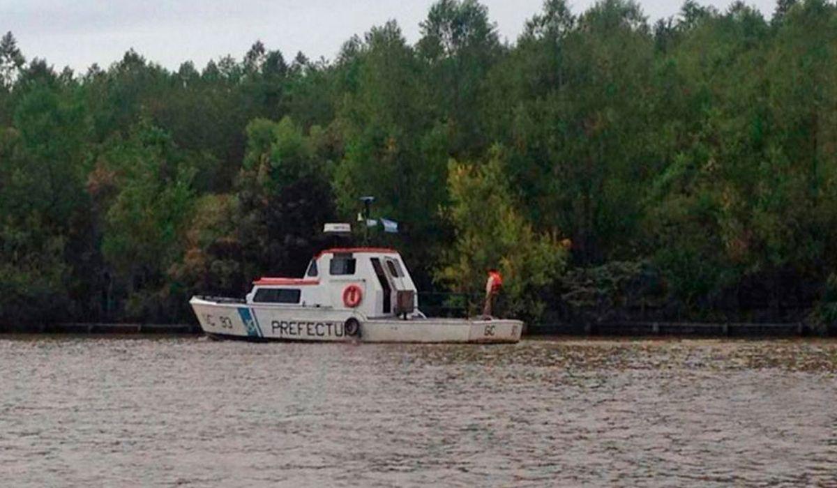 Así es la búsqueda del joven perdido en el río Luján
