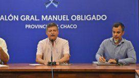 Domingo Peppo junto a Horacio Rey, quien fue sepado de su cargo.