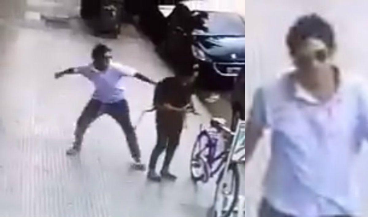 Buscan a un hombre que golpeó a una mujer en una calle de Palermo