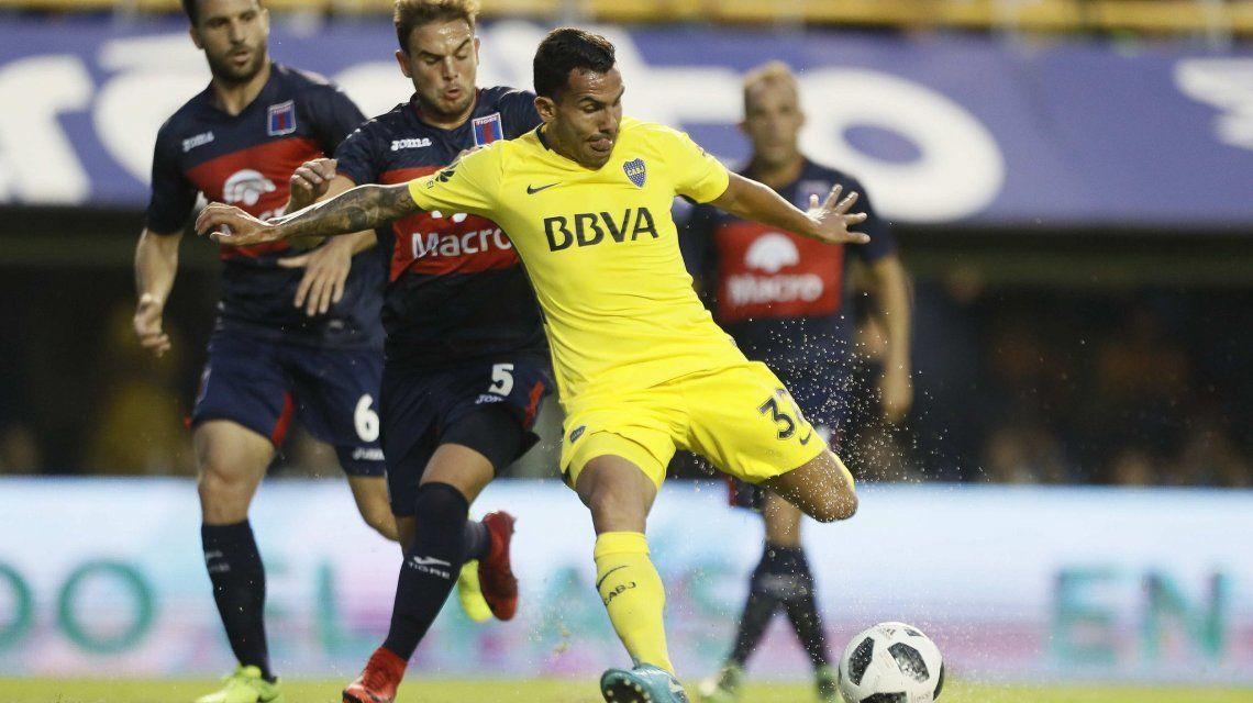 Tevez en Boca vs Tigre - Crédito: @BocaJrsOficial