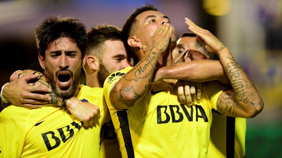Gol de Cardona para Boca ante Tigre