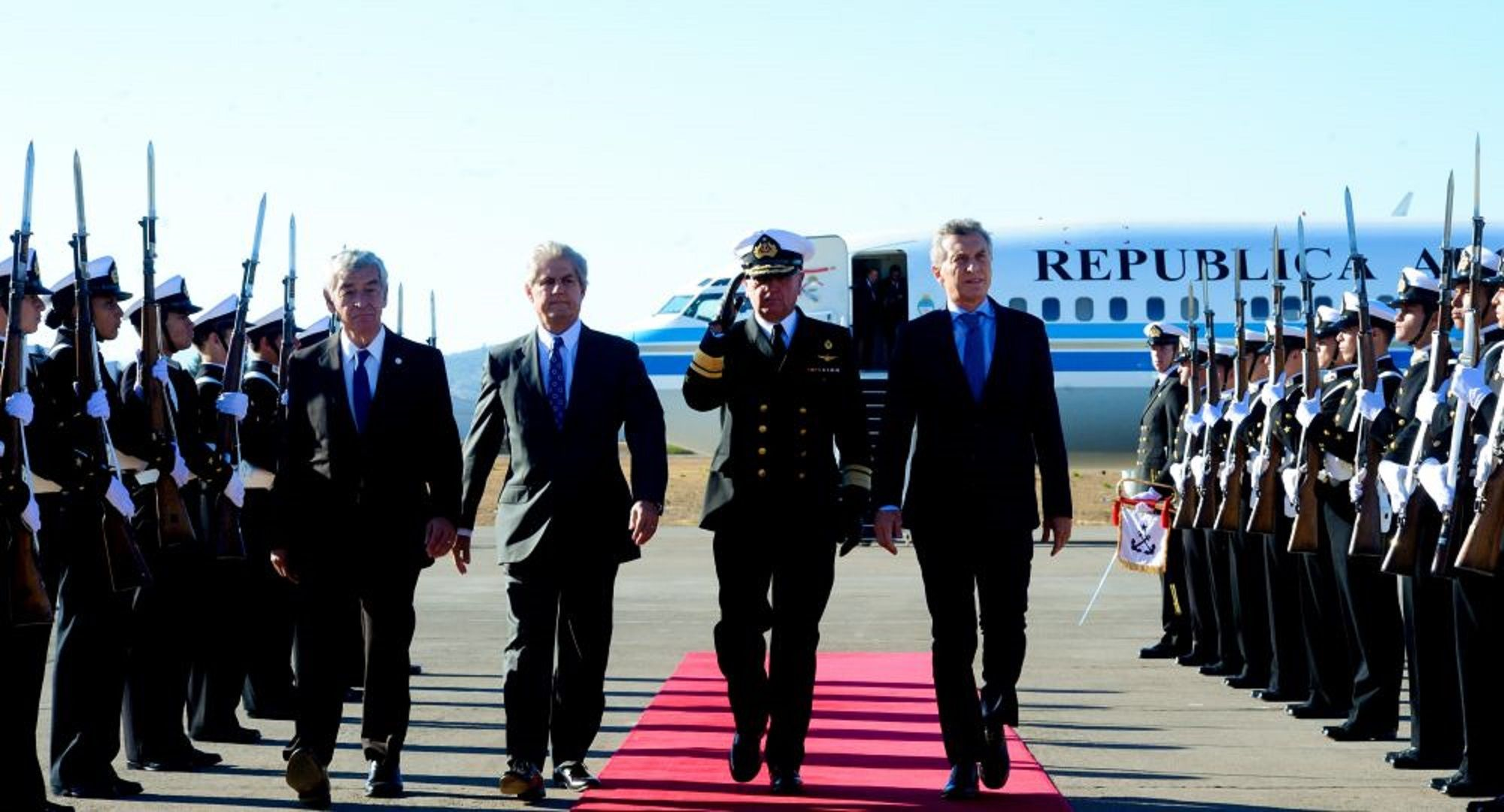 La llegada del presidente Mauricio Macri a Chile.