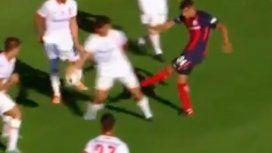 Reclamaron mano de Araujo en San Lorenzo vs Huracán
