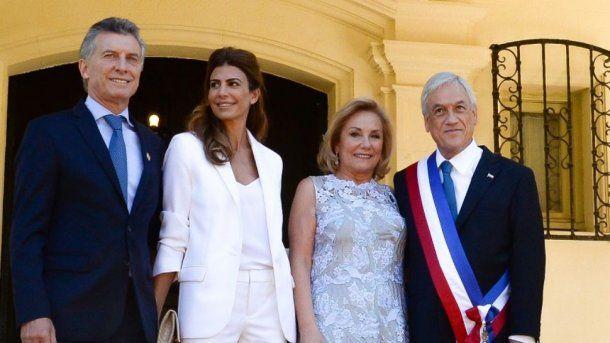 Mauricio Macri, Sebastián Piñera y sus primeras damas
