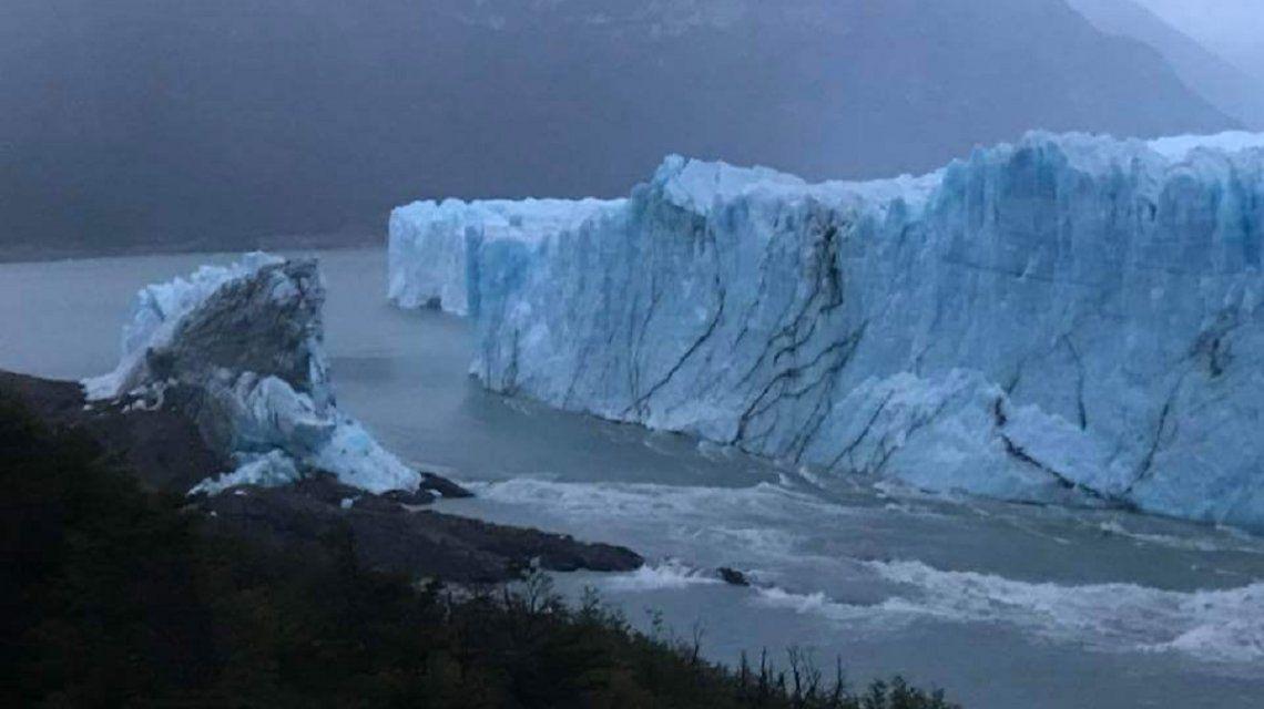 ¡No se pudo ver! Se derrumbó el Perito Moreno en la madrugada