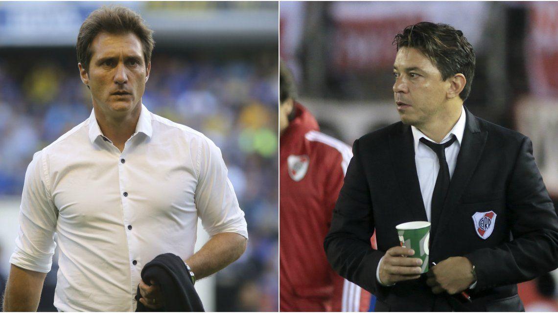 Guillermo Barros Schelotto y Marcelo Gallardo