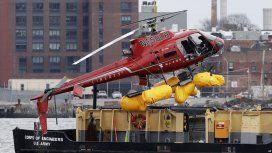 Los pasajeros del helicóptero murieron atrapados a 15 metros de profundidad