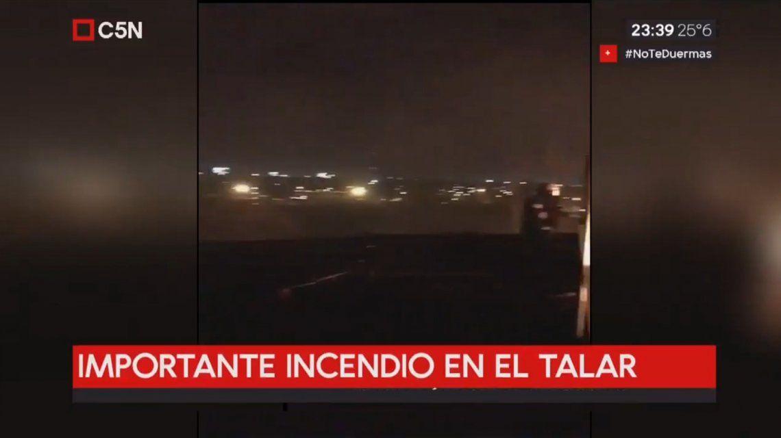Incendio en El Talar de Pacheco