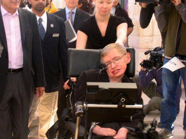 Stephen Hawking en Jerusalén<br>