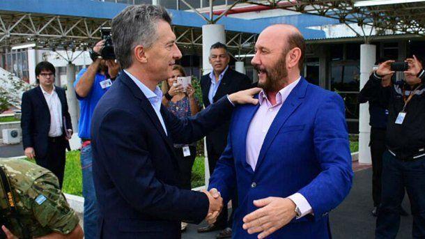 Mauricio Macri  y el gobernador <b>Gildo Insfran</b>