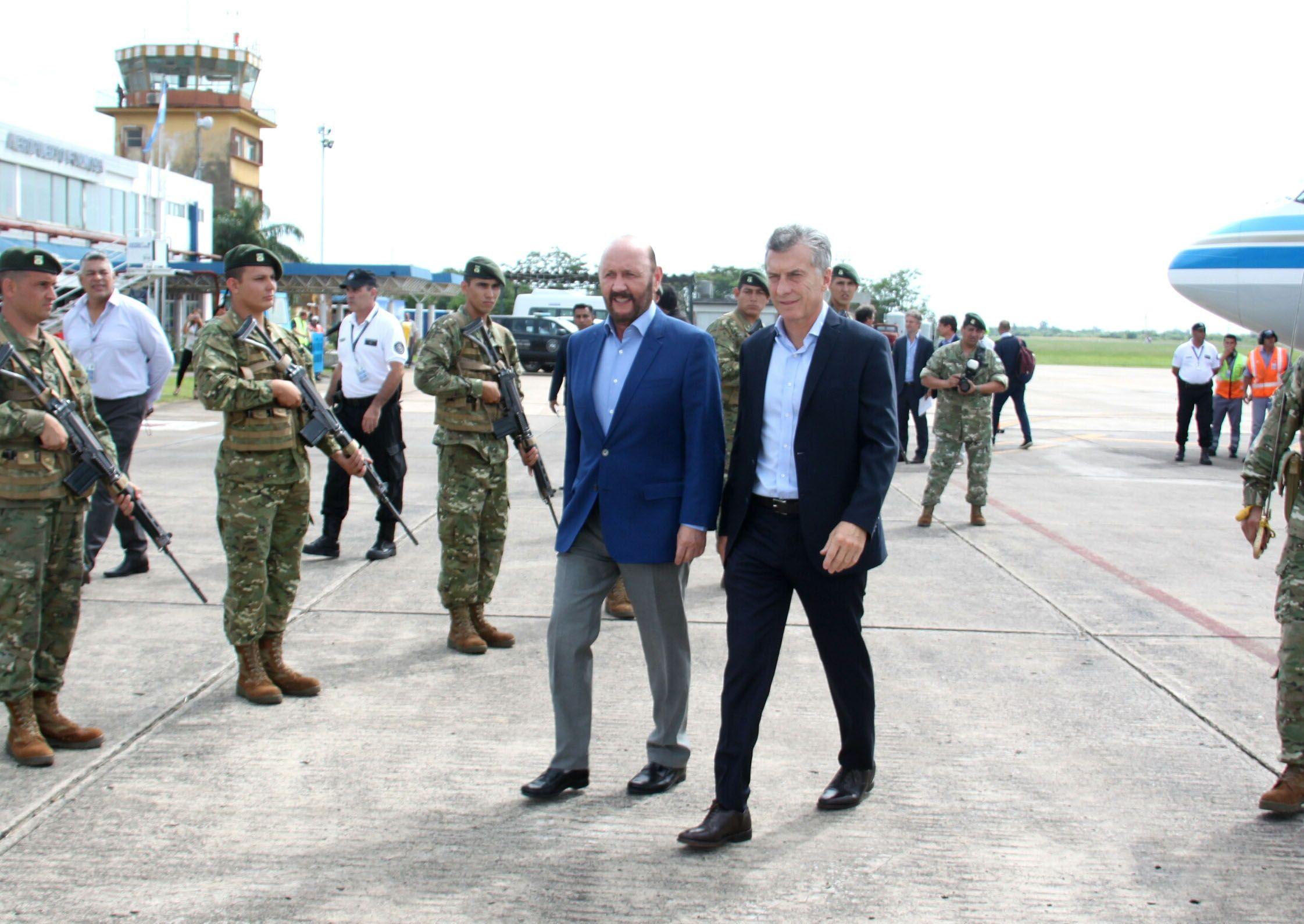 Mauricio Macri y Gildo Insfrán