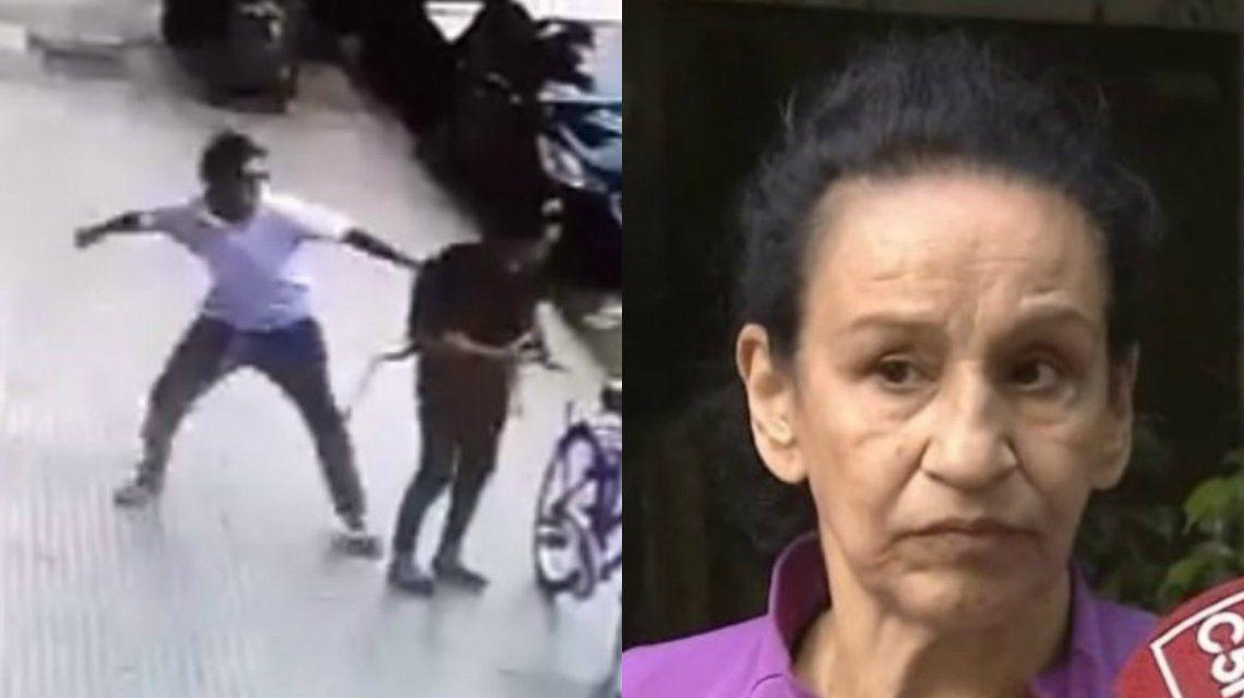 Cristina fue golpeada sin motivo alguno por un hombre que andaba por la calle
