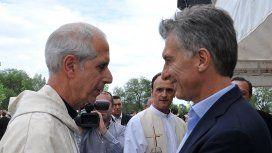 Mauricio Macri y el arzobispo Mario Poli