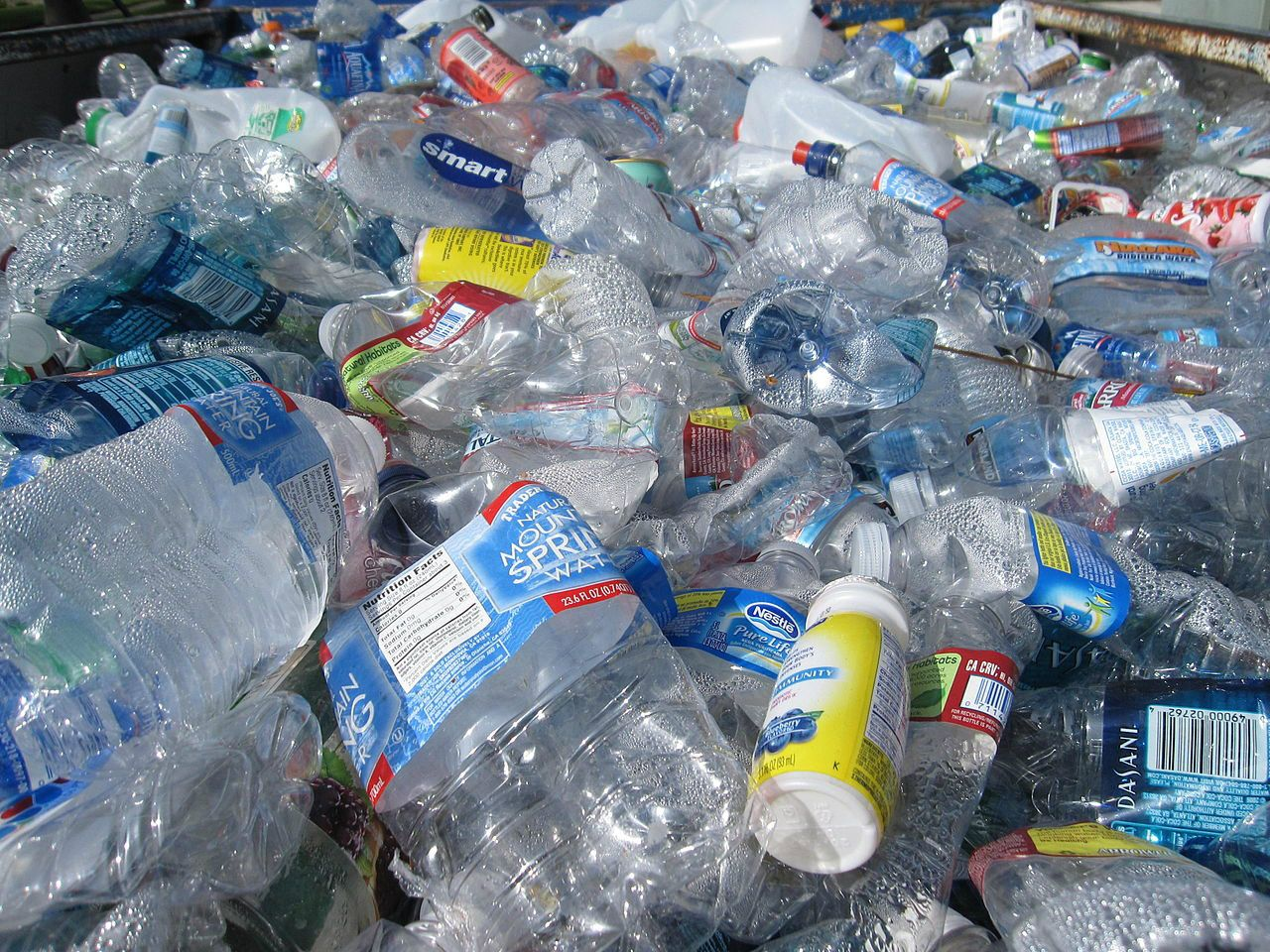 Botellas de plásticas