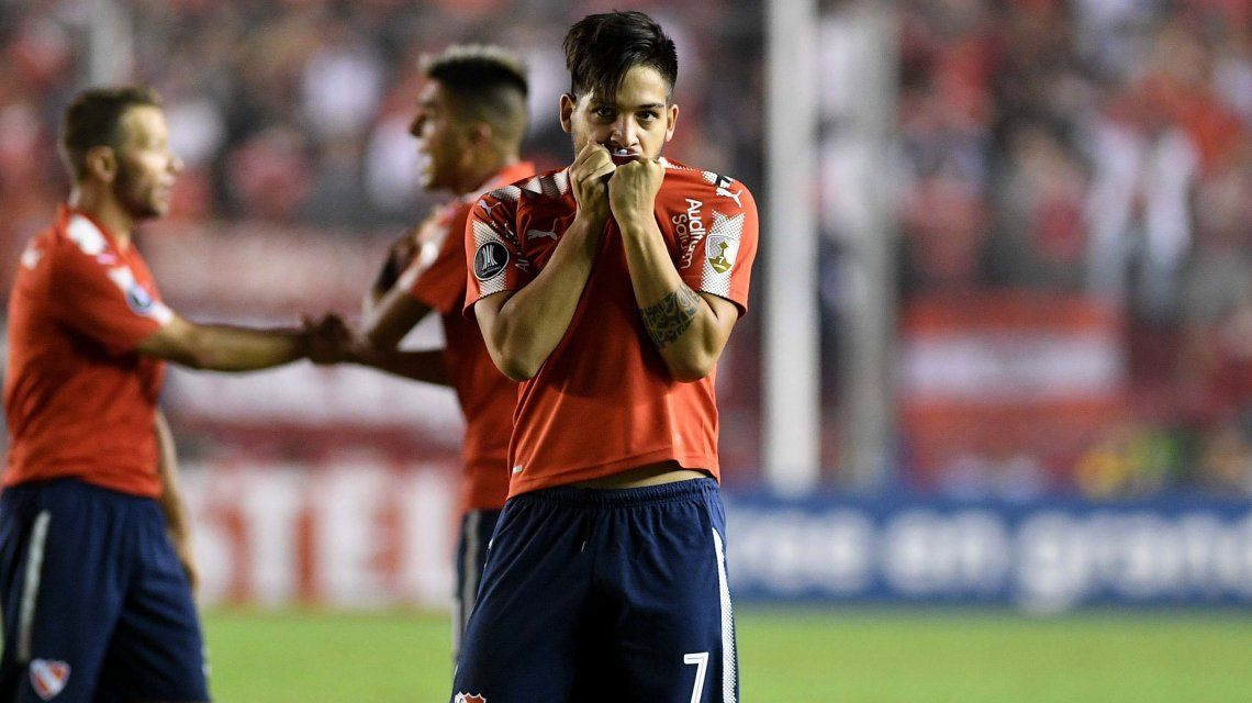 Martín Benítez celebra el gol del triunfo