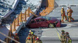 El brutal derrumbe del puente en Miami