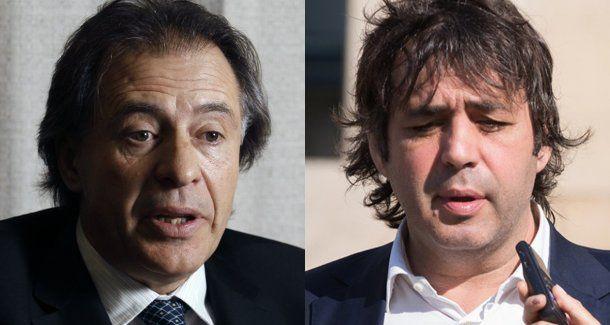 <p>Cristóbal López y Fabián De Sousa</p>