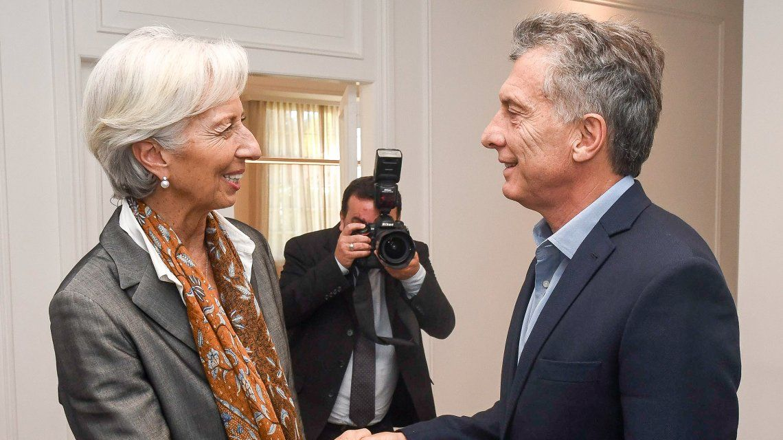 Lagarde le llevó a Macri los elogios del FMI a sus políticas hasta la Quinta de Olivos