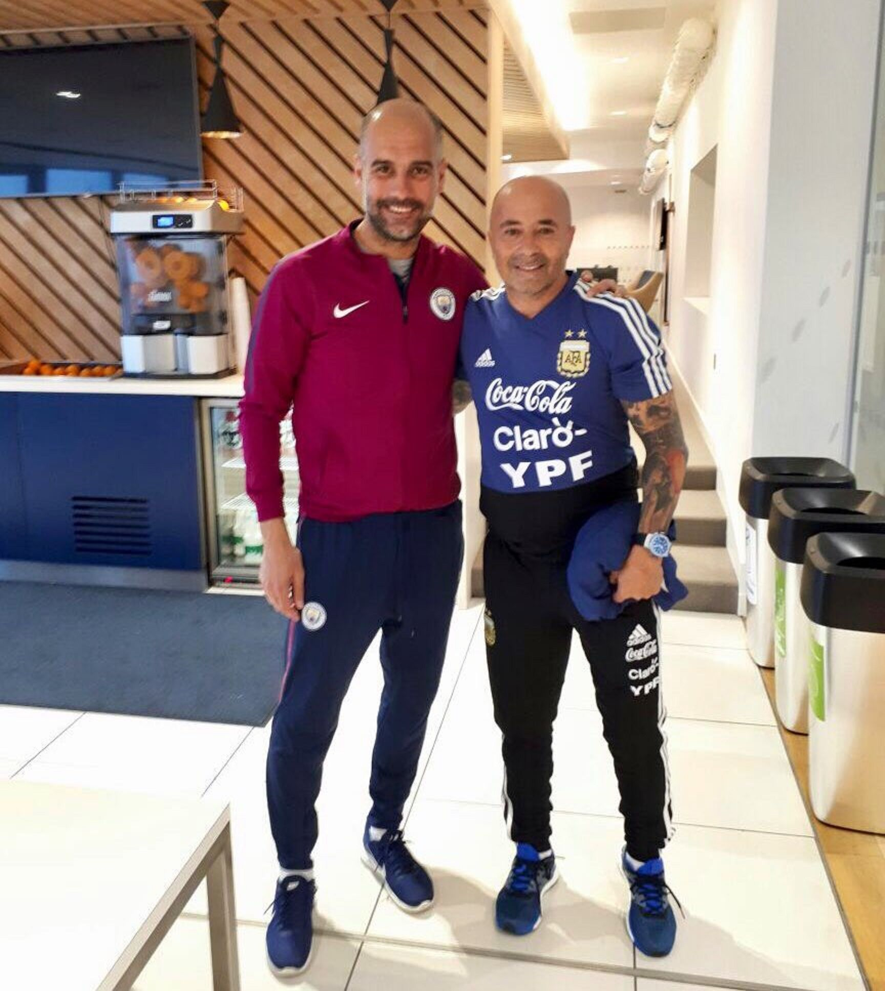 Guardiola y Sampaoli