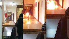 Hizo un incendio en la Municipalidad de Bariloche