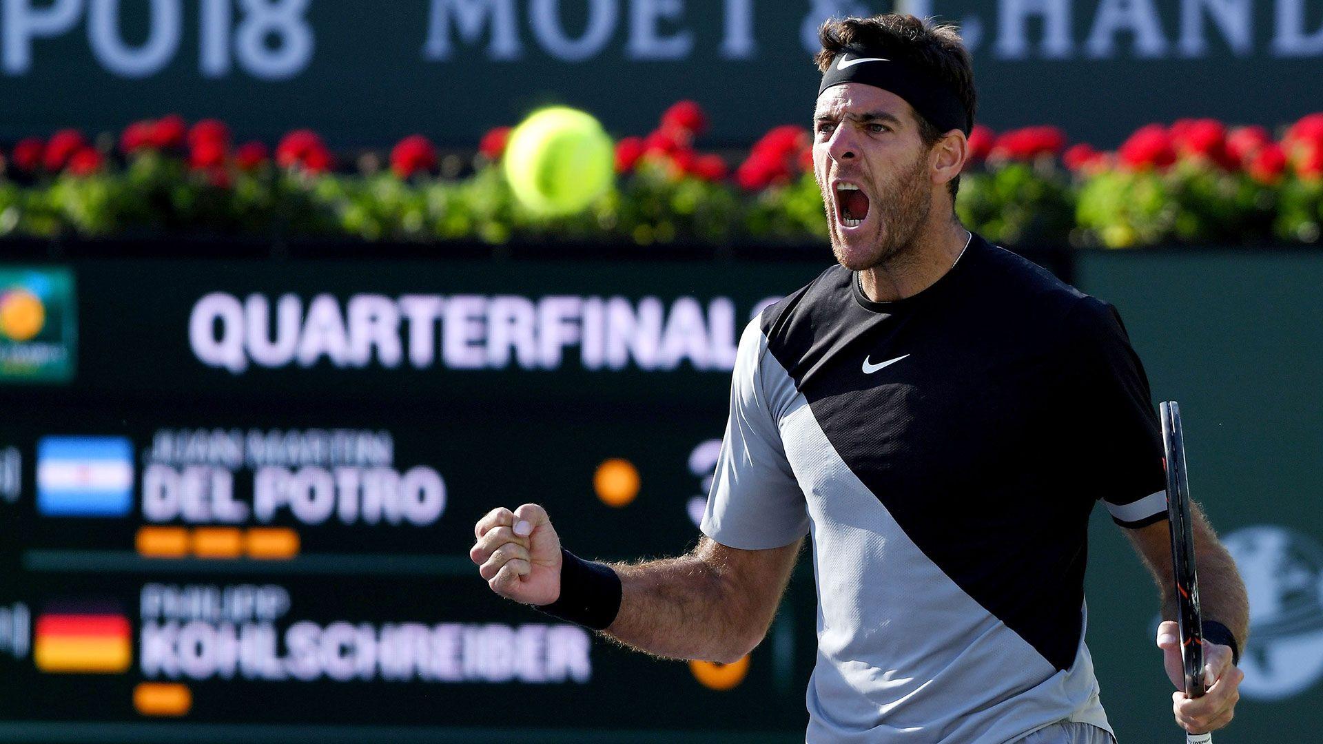 Del Potro define la final de Indian Wells contra el mejor de todos los tiempos: Federer es favorito
