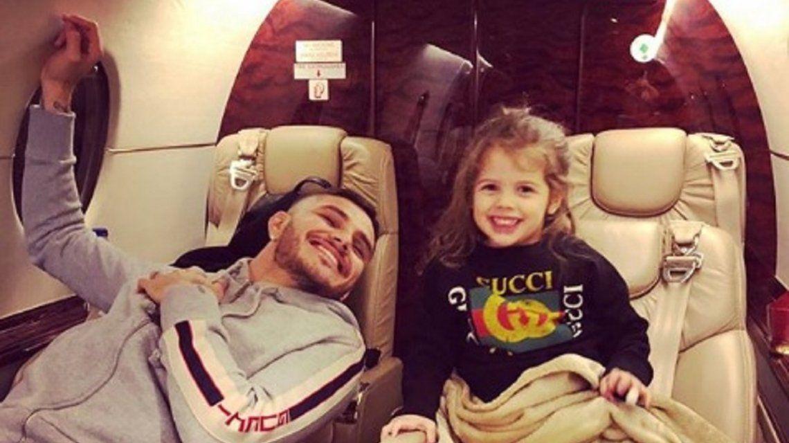 Mauro Icardi en avión privado - Crédito: Instagram @mauroicardi