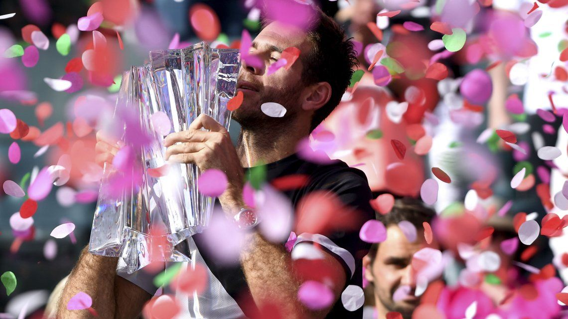 Juan Martín del Potro se consagró campeón del torneo de ATP Master de Indian Wells