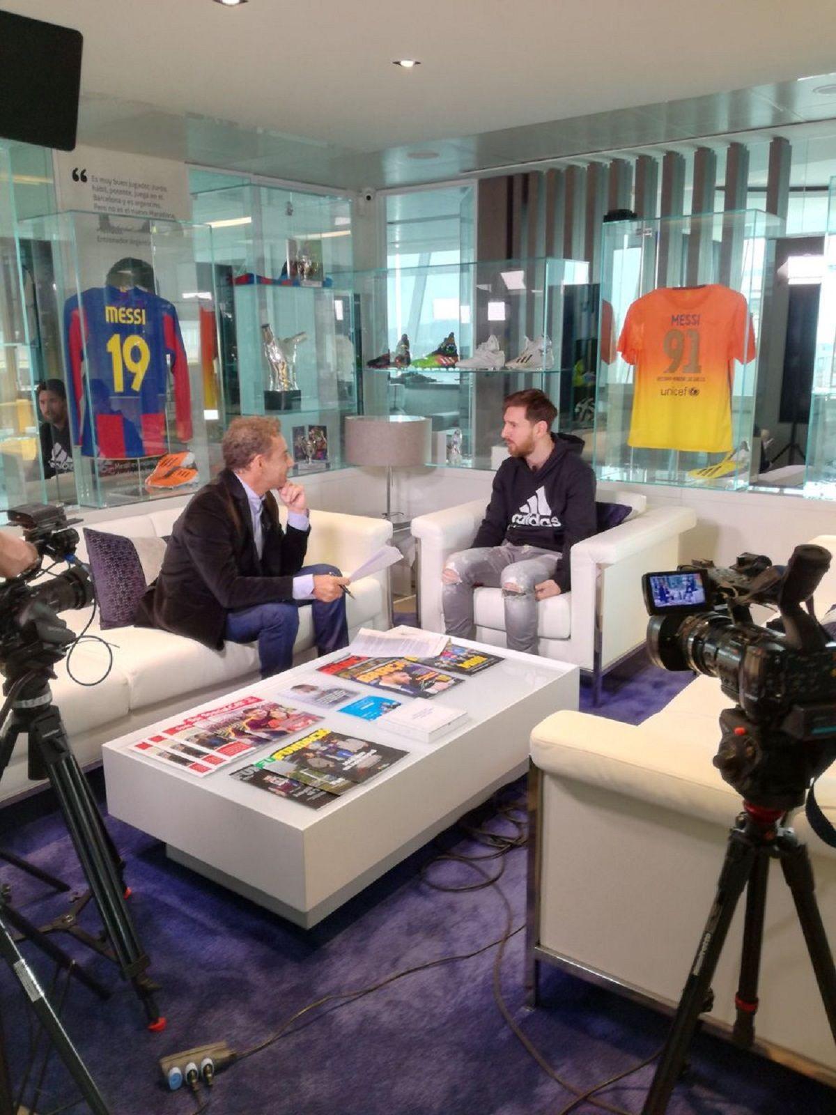 Lionel Messi habló en el canal América