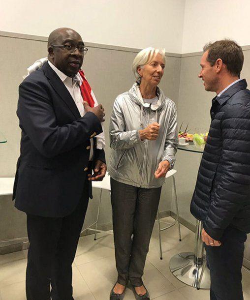 Lagarde en River - Crédito: cariverplate.com.ar