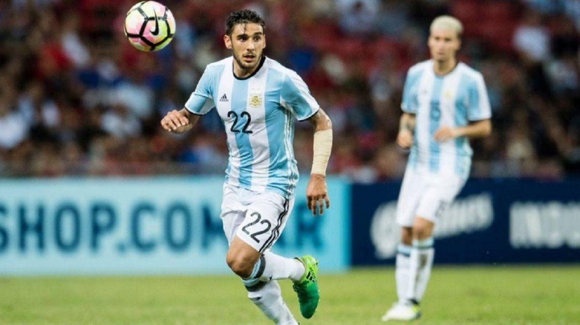 Eduardo Salvio en la Selección Argentina - Crédito: @totosalvio8