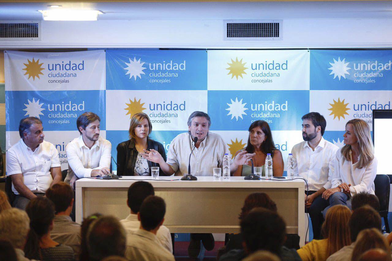 Máximo Kirchner con concejales de Unidad Ciudadana