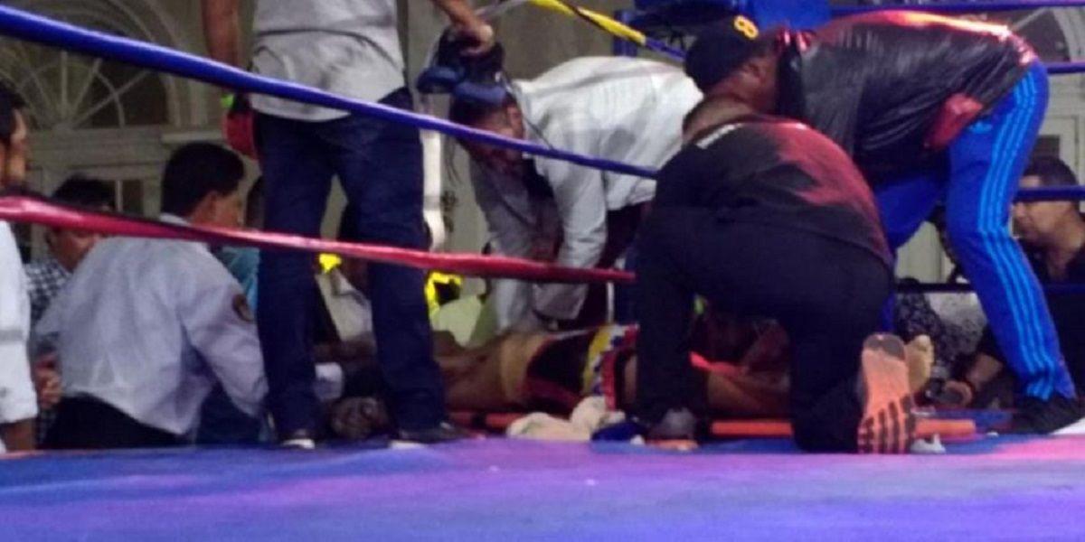 Un boxeador colombiano murió luego de un KO