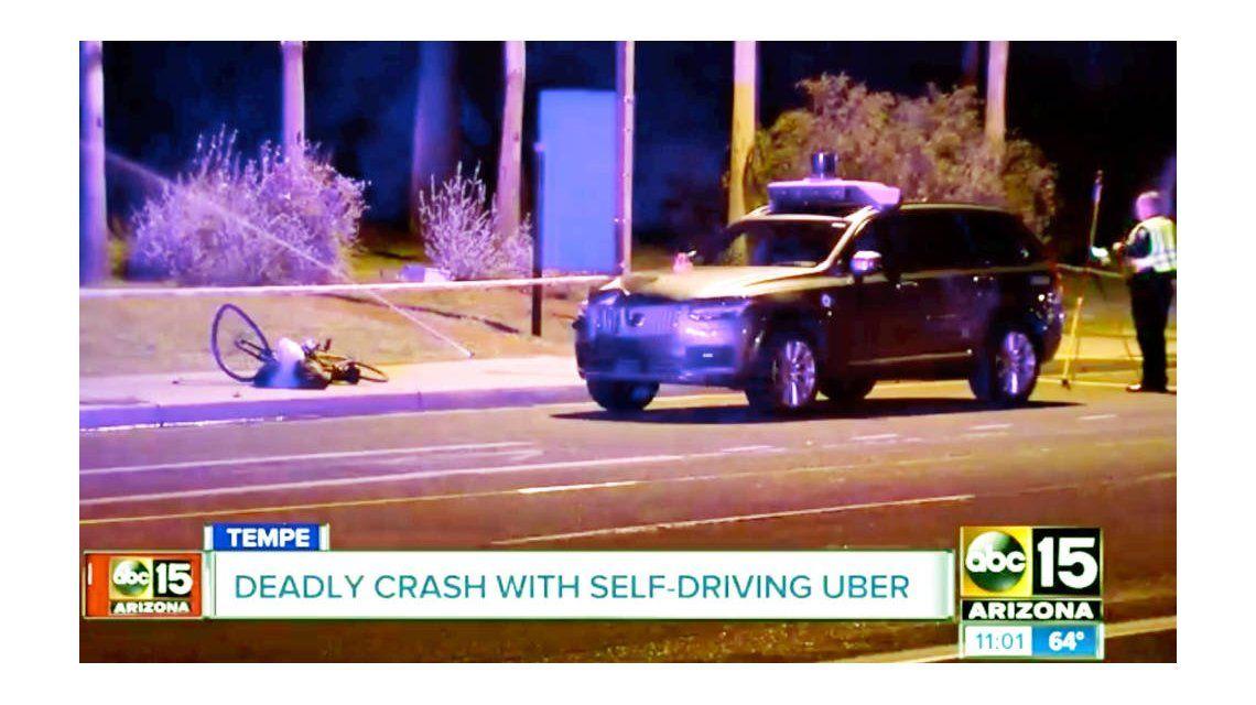 Un auto autónomo de Uber mató a una mujer en Estados Unidos