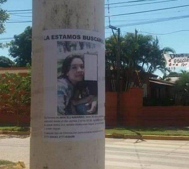 Araceli Navarro fue hallada sin vida <br>