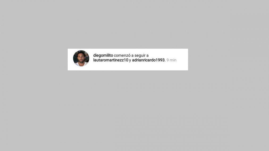 Diego Milito en Instagram