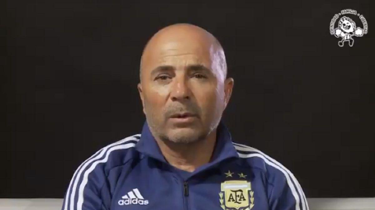 Jorge Sampaoli apoyó el trabajo de Abuelas de Plaza de Mayo
