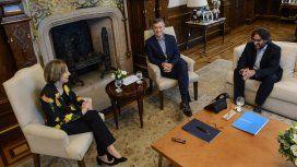 Inés Weinberg de Roca junto con Macri,