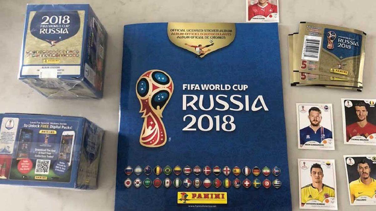 Album de figuritas de Rusia 2018