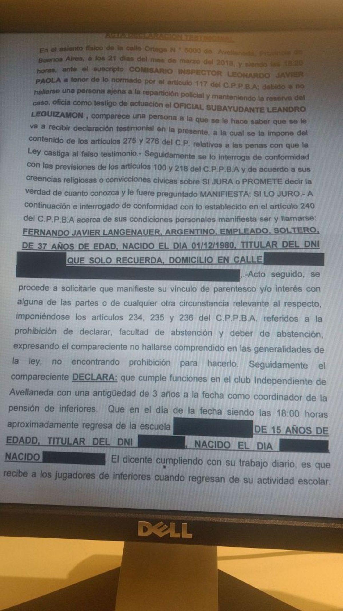 La denuncia fue radicada en la UFI 4 de Avellaneda
