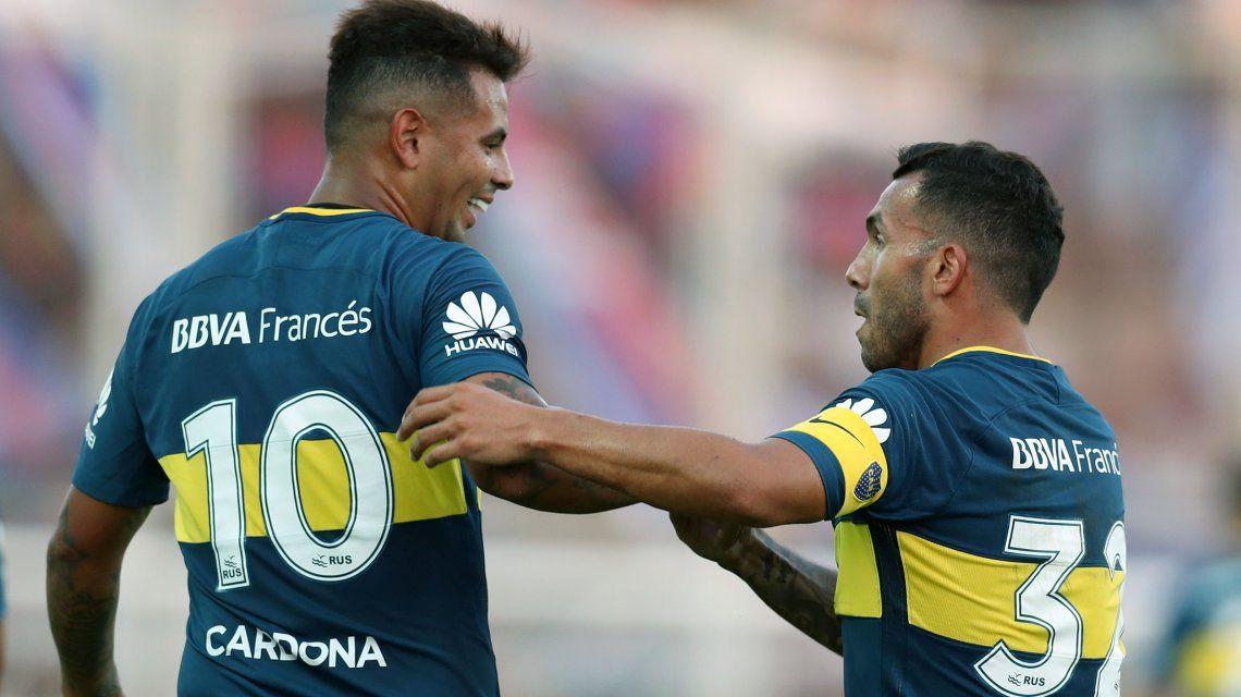 Más problemas en Boca: Tevez y Cardona, lesionados