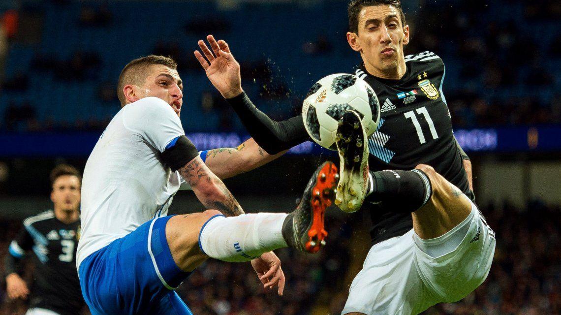 Di María en Argentina vs Italia