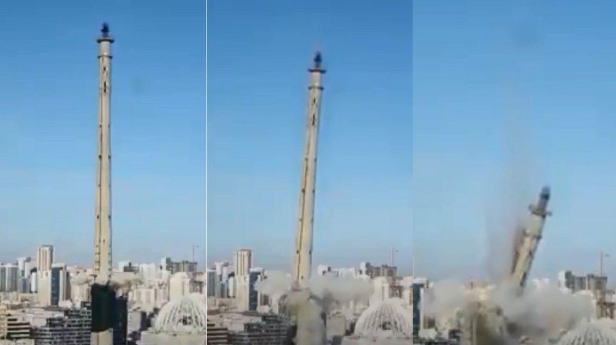 Demolición de una torre enEkaterimburgo