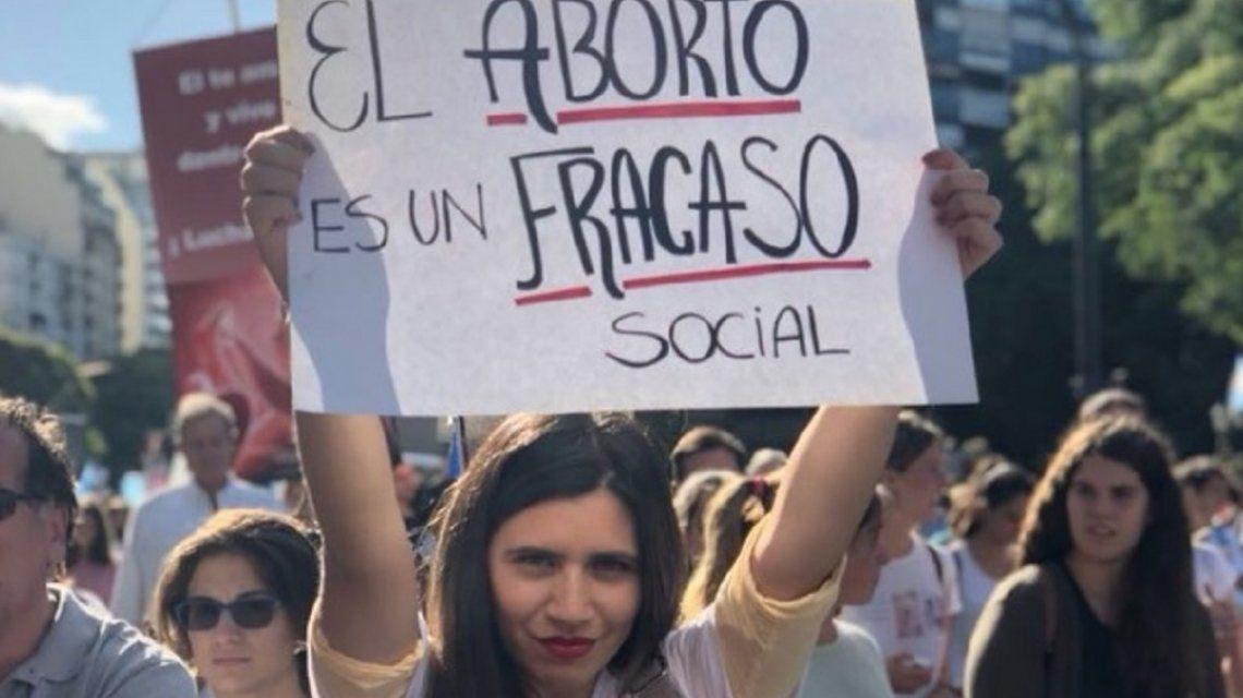 Marcha contra el aborto - Crédito:@AnaBelenMarmora
