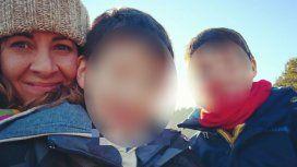 Mariana junto a su hijo Benjamin y su hermano