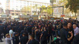 Es sólo el comienzo: policías de la Federal protestaron contra el traspaso a la Ciudad