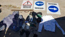 Usaban carteles viales para asaltar