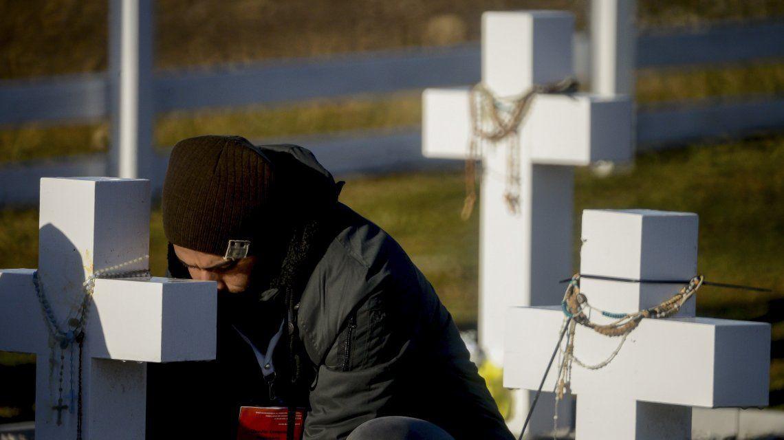 El  encuentro de los familiares con los restos de los héroes de Malvinas en fotos que emocionan