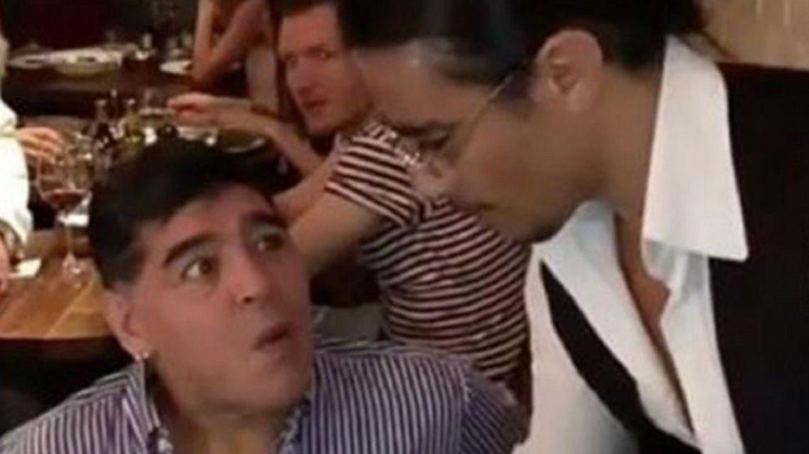 Diego Maradona se encontró con Salt Bae y dejó una frase para el recuerdo