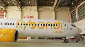 El primer avión de FlyBondi está en el hangar a la espera de ser reparado